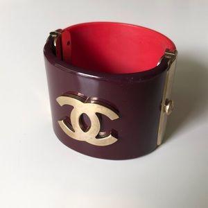 CHANEL resin cuff bracelet- unique piece!
